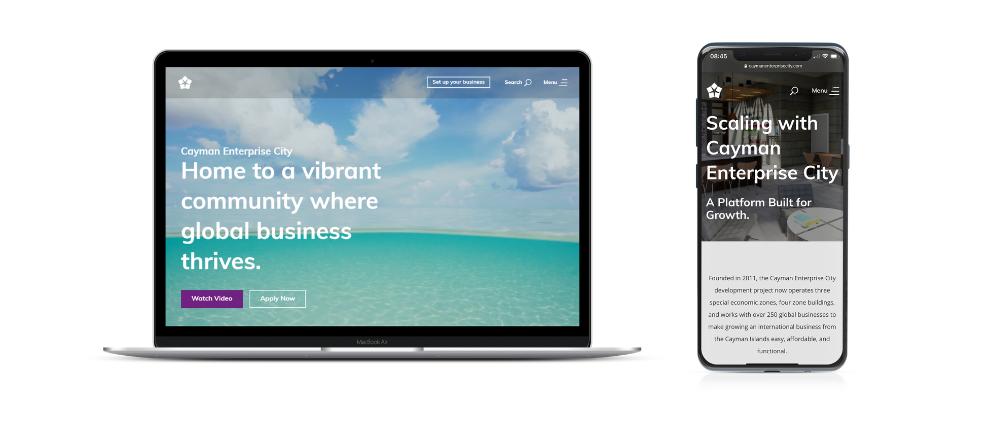 Cayman Enterprise City Website wins HubSpot Award