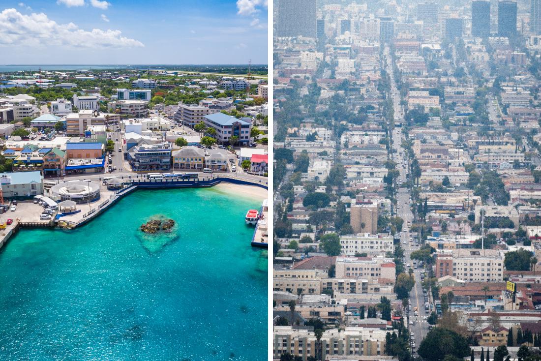 California VS Cayman Islands