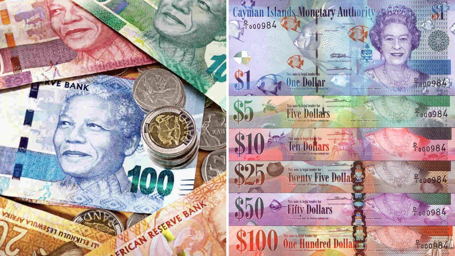 South African va Cayman Islands Money-1
