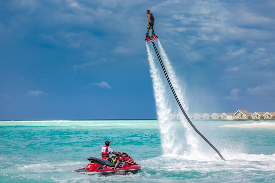 Fly boarding with Summer Water Sports Cayman